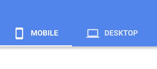 mobile vs desltop page pseed