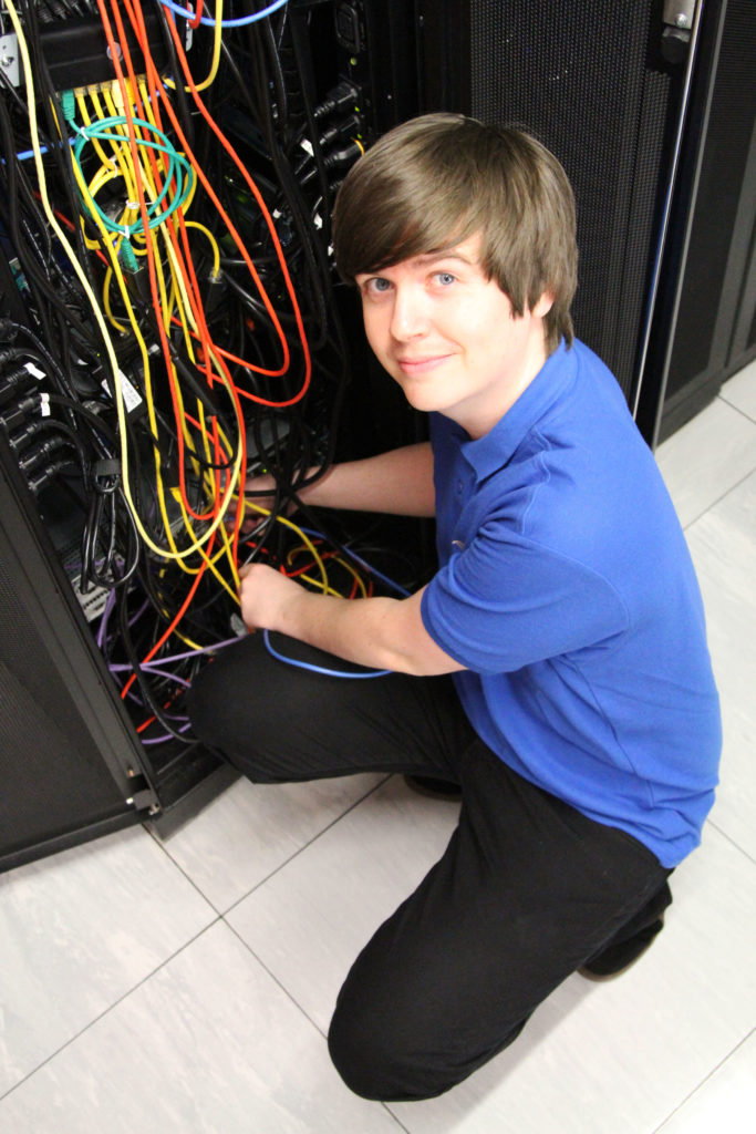 A photo of Pete at the data centre