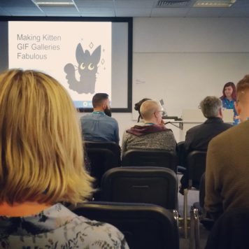 Kayleigh speaking about Making kitten GIF galleries fabulous