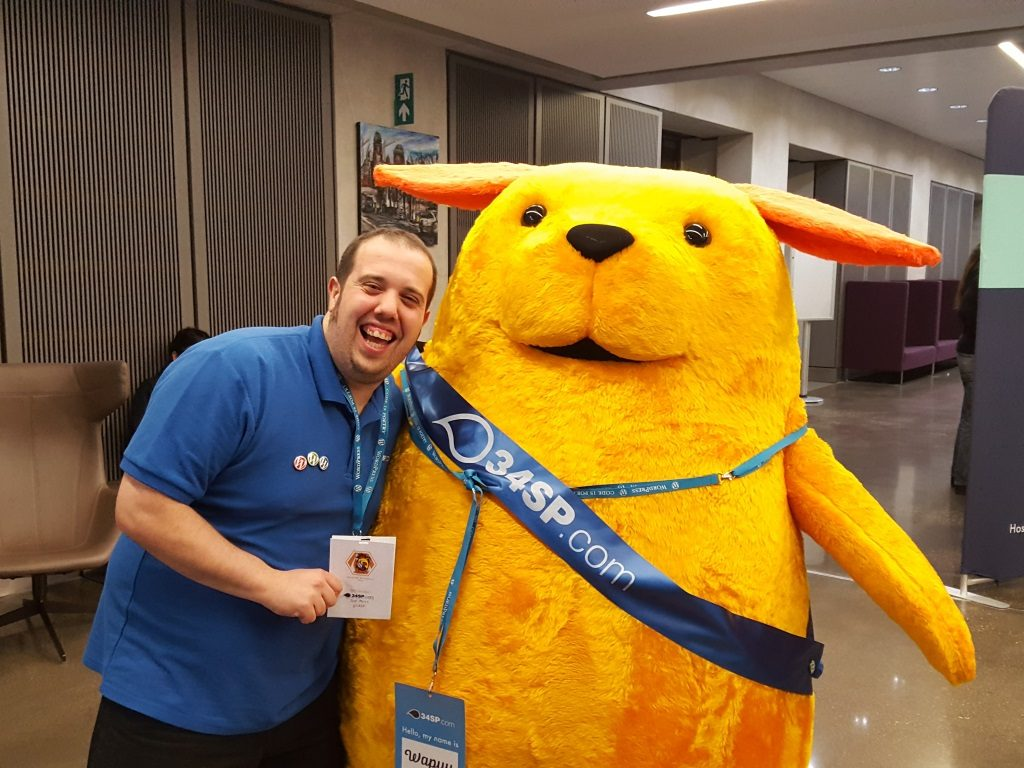 Joe with Wapuu