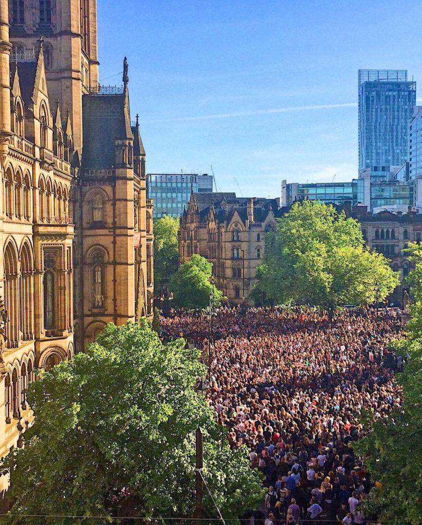 Manchester Vigil Albert Square