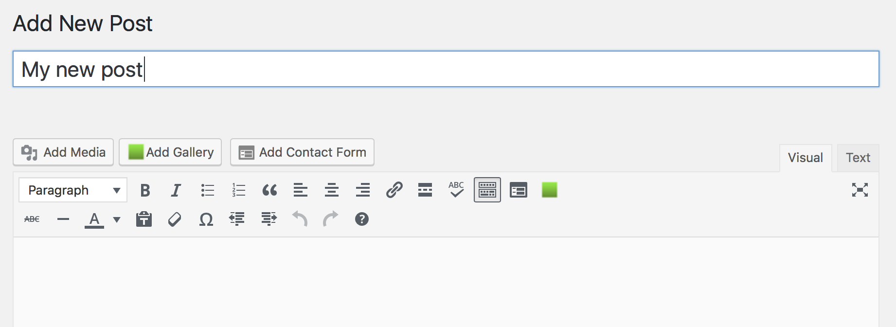 The add contact form button
