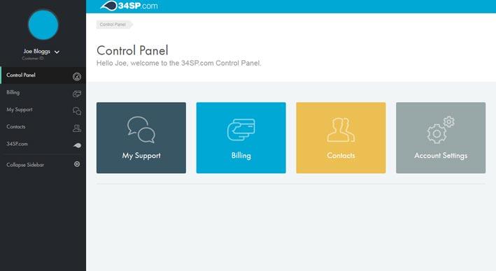 screenshot of the billing contact control panel