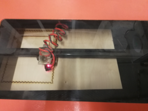 Laser cutting the box