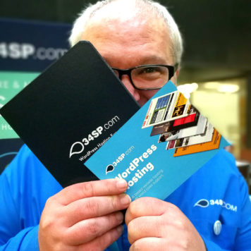 Keith with 34SP.com swag in hand