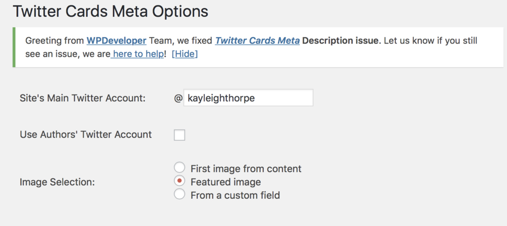 Our favourite WordPress plugins Twitter cards meta